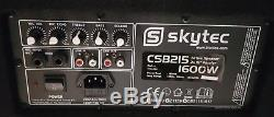 Skytec CSB215 Pair Dual 15 Active Powered DJ Speakers Disco Party System