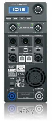 Turbosound IQ15 (PAIR) 2500 Watt 2 Way 15 Powered Speakers with KLARK TEKNIK DSP
