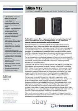 Turbosound Milan M12 Powered Speakers Pair