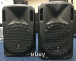 Used Pair of Studiomaster Drive 12A Active Powered PA Speakers 310W RMS