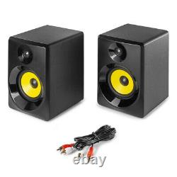Vonyx 50B Active Studio Monitors (Pair) 5 Powered Speakers, 70 Watt, Black