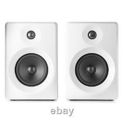 Vonyx 50W Active Studio Monitors (Pair) 5 Powered Speakers, 70 Watt, White