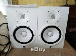 X2 Yamaha HS8 W 8-Inch Powered Studio Monitor White (Pair) HS-8W HS8W NEW IN BOX
