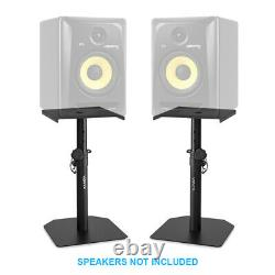 XP50 Active Powered Studio Monitor Speakers 5.25 Multimedia DJ (Pair) & Stands