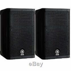 Yamaha DXR10 1100w Powered 1x10 PA Speakers Pair Ex Demo