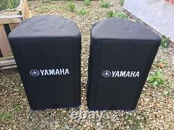 Yamaha DXR12 Active Powered PA Speakers x2 Pair with Official Covers