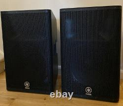 Yamaha DXR15 Pair Of Powered Speakers DXR-15 SOUND AMAZING