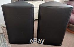Yamaha DXR15 Powered speakers with covers Pair