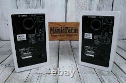 Yamaha HS5W PAIR 70W Bi Amp Two Way Powered Studio Monitor Active Speaker White