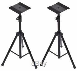 Yamaha HS5 Powered Studio Monitor Pair with Heavy Duty Speaker Tripods