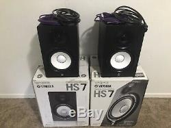 Yamaha HS7 Powered Active Studio Monitor Speaker (Pair) Perfect Condition