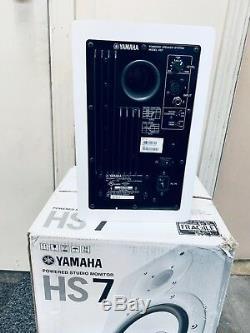 Yamaha HS7 Powered Studio Monitors (Pair) White Almost Brand New