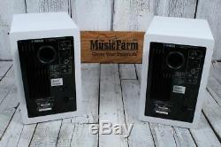 Yamaha HS7 Two Way Powered Studio Monitor PAIR OF TWO 95W Active Speakers White