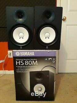 Yamaha HS80M 8 Powered Studio Monitor Pair