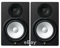 Yamaha HS8 Pair of Powered Studio Monitors 120W Black Brand NEW Hs-8 Ships NOW